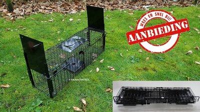 Rattenvangkooi 2 deurs zwart